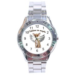 Angel Chihuahua Stainless Steel Analogue Watch by Valentinaart