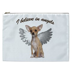 Angel Chihuahua Cosmetic Bag (xxl)  by Valentinaart