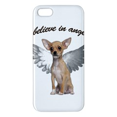 Angel Chihuahua Apple Iphone 5 Premium Hardshell Case by Valentinaart