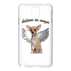 Angel Chihuahua Samsung Galaxy Note 3 N9005 Case (white) by Valentinaart