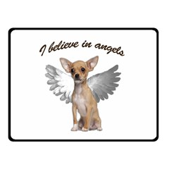 Angel Chihuahua Double Sided Fleece Blanket (small)  by Valentinaart