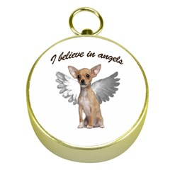 Angel Chihuahua Gold Compasses by Valentinaart
