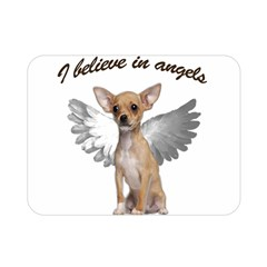 Angel Chihuahua Double Sided Flano Blanket (mini)  by Valentinaart