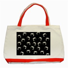 Pug Dog Pattern Classic Tote Bag (red) by Valentinaart