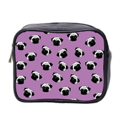 Pug Dog Pattern Mini Toiletries Bag 2 Side by Valentinaart