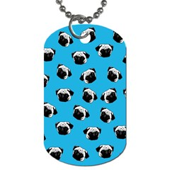 Pug Dog Pattern Dog Tag (two Sides) by Valentinaart