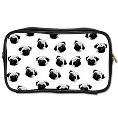 Pug Dog Pattern Toiletries Bags by Valentinaart
