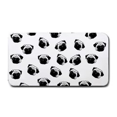 Pug Dog Pattern Medium Bar Mats by Valentinaart