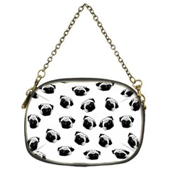 Pug Dog Pattern Chain Purses (one Side)  by Valentinaart