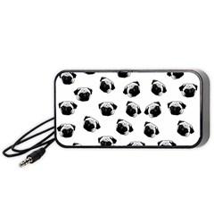 Pug Dog Pattern Portable Speaker (black) by Valentinaart