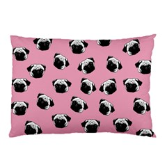Pug Dog Pattern Pillow Case (two Sides) by Valentinaart