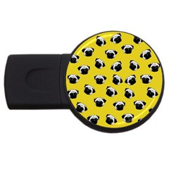 Pug dog pattern USB Flash Drive Round (4 GB)