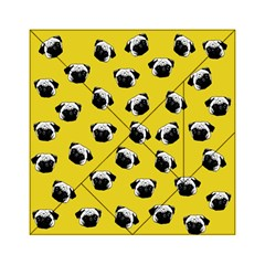 Pug Dog Pattern Acrylic Tangram Puzzle (6  X 6 ) by Valentinaart