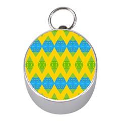 Rhombus Pattern           Silver Compass (mini) by LalyLauraFLM