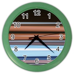 Color Screen Grinding Color Wall Clocks by Nexatart