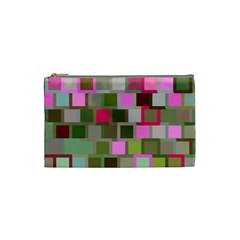 Color Square Tiles Random Effect Cosmetic Bag (small)  by Nexatart