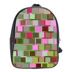 Color Square Tiles Random Effect School Bags(large)  by Nexatart