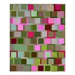 Color Square Tiles Random Effect Shower Curtain 60  X 72  (medium)  by Nexatart