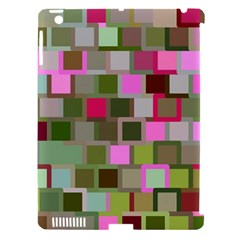 Color Square Tiles Random Effect Apple iPad 3/4 Hardshell Case (Compatible with Smart Cover) by Nexatart