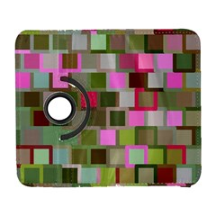 Color Square Tiles Random Effect Galaxy S3 (flip/folio) by Nexatart