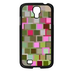 Color Square Tiles Random Effect Samsung Galaxy S4 I9500/ I9505 Case (black) by Nexatart