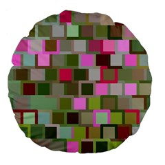 Color Square Tiles Random Effect Large 18  Premium Flano Round Cushions by Nexatart