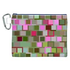 Color Square Tiles Random Effect Canvas Cosmetic Bag (xxl) by Nexatart