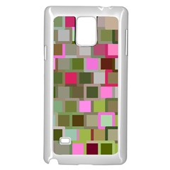 Color Square Tiles Random Effect Samsung Galaxy Note 4 Case (White) by Nexatart