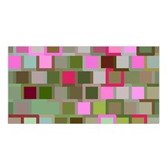Color Square Tiles Random Effect Satin Shawl by Nexatart
