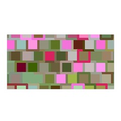 Color Square Tiles Random Effect Satin Wrap by Nexatart