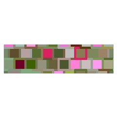 Color Square Tiles Random Effect Satin Scarf (oblong) by Nexatart