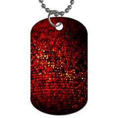 Red Particles Background Dog Tag (two Sides) by Nexatart
