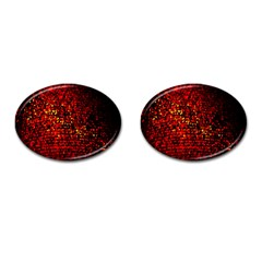Red Particles Background Cufflinks (oval) by Nexatart
