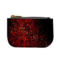 Red Particles Background Mini Coin Purses by Nexatart