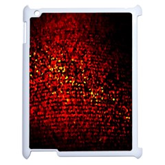 Red Particles Background Apple Ipad 2 Case (white) by Nexatart