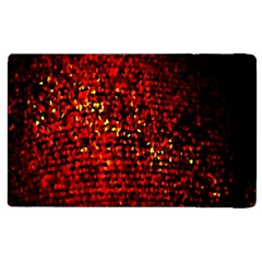 Red Particles Background Apple Ipad 2 Flip Case by Nexatart