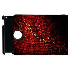 Red Particles Background Apple Ipad 2 Flip 360 Case by Nexatart