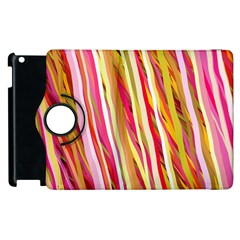 Color Ribbons Background Wallpaper Apple Ipad 3/4 Flip 360 Case by Nexatart