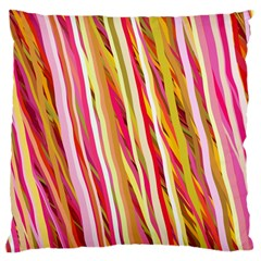 Color Ribbons Background Wallpaper Standard Flano Cushion Case (two Sides) by Nexatart