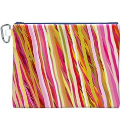 Color Ribbons Background Wallpaper Canvas Cosmetic Bag (xxxl) by Nexatart
