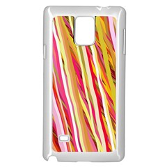 Color Ribbons Background Wallpaper Samsung Galaxy Note 4 Case (white) by Nexatart
