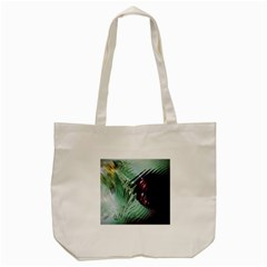Out Of Time Glass Pearl Flowag Tote Bag (cream) by Nexatart