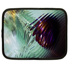 Out Of Time Glass Pearl Flowag Netbook Case (xl)  by Nexatart