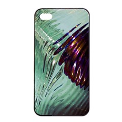 Out Of Time Glass Pearl Flowag Apple Iphone 4/4s Seamless Case (black) by Nexatart