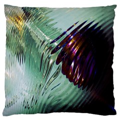 Out Of Time Glass Pearl Flowag Large Cushion Case (one Side) by Nexatart