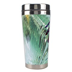 Out Of Time Glass Pearl Flowag Stainless Steel Travel Tumblers by Nexatart
