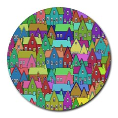 Neighborhood In Color Round Mousepads