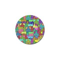 Neighborhood In Color Golf Ball Marker by Nexatart