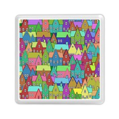 Neighborhood In Color Memory Card Reader (square)  by Nexatart