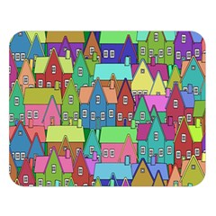 Neighborhood In Color Double Sided Flano Blanket (large)  by Nexatart